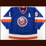 1989-90 Bryan Trottier New York Islanders Game Worn Jersey – The Terrence Murphy Collection – Joe Murphy Letter