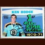 1971-72 OPC Ken Hodge AS Autographed Card