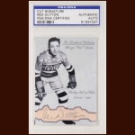 "Mervyn ""Red"" Dutton Autographed Card - The Broderick Collection - Deceased"