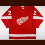 1983-84 Brad Park Detroit Red Wings Game Worn Jersey - Bill Masterton Memorial Trophy