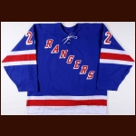 2003-04 Anson Carter New York Rangers Game Worn Jersey