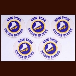 1973-74 WHA New York Golden Blades Coaster Set of 5