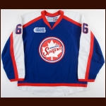 2013-14 Josh Ho-Sang Windsor Spitfires Game Worn Jersey – Throwback - Photo Match