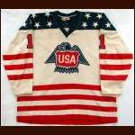 1976 Pete Lopresti Team USA Canada Cup Game Worn Jersey