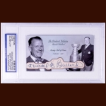 Harold Ballard Autographed Card - The Broderick Collection - Deceased