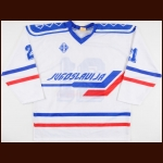 Circa 1991 Yugoslavian National Team Game Worn Jersey – Player #21