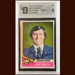 1974-75 OPC Marc Boileau Pittsburgh Penguins Autographed Card – Deceased