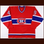 1994-95 Brian Savage Montreal Canadiens Game Worn Jersey – Rookie