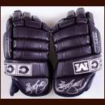Teemu Selanne Anaheim Ducks Purple CCM Autographed Gloves - Unused - PSA/DNA