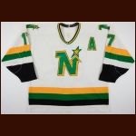 1988-89 Basil McRae Minnesota North Stars Game Worn Jersey - 400+ PIMS Season