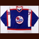 1989-90 Tom Draper Winnipeg Jets Game Worn Jersey