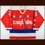 1986 Yvon Corriveau Washington Capitals Game Worn Jersey – Rookie
