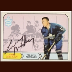 1968-69 Larry Mickey Toronto Maple Leafs Autographed Card – Deceased