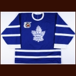 1991-92 Rick Wamsley Toronto Maple Leafs Game Worn Jersey - Turn Back The Clock - The Rick Wamsley Collection – Rick Wamsley Letter