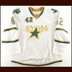 2008-09 Nolan Pratt Dallas Stars Pre-Season Game Worn Jersey – Last NHL Jersey – Team Letter