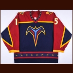 2002-03 Dany Heatley Atlanta Thrashers Game Worn Jersey - 2nd NHL Season - All Star Season - Team Letter