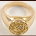 1990 Michele Roy (Wife of Patrick Roy) NHL All Star Game 14k Gold and Diamond Participation Ring