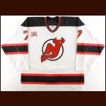 "2006-07 Paul Martin New Jersey Devils Game Worn Jersey – ""25-year Anniversary"" - Photo Match"