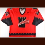 1999-00 Sylvain Plamondon Quebec Remparts Game Worn Jersey - Photo Match