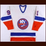 1982-83 Butch Goring New York Islanders Stanley Cup Finals Game Worn Jersey - Stanley Cup Winning Jersey - Photo Match - The Dave Goring Collection – Dave Goring Letter