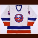 1985-86 Paul Boutilier New York Islanders Game Worn Jersey - Photo Match