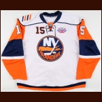 "2007-08 Jeff Tambellini New York Islanders Game Worn Jersey – ""Core of the Four"" – Team Letter"