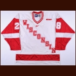 "2001-02 Rene Bourque University of Wisconsin Game Worn Jersey – ""WCHA 50-year Anniversary"""