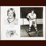 "Juha ""Whitey"" Widing Los Angeles Kings Autograped 8x10 B&W Photo – Deceased"
