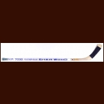Thomas Steen Winnipeg Jets White Sher-Wood Game Used Stick