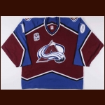 "2005-06 Brad May Colorado Avalanche Game Worn Jersey – ""10-year Anniversary Patch"" – Team Letter"