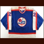 1988-89 Gord Donnelly Winnipeg Jets Game Worn Jersey – Photo Match – The Terrence Murphy Collection – Joe Murphy Letter