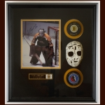 Gerry Cheevers Boston Bruins Autographed Matted & Framed Display