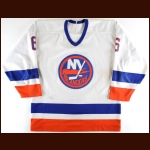 1985-86 Ken Morrow New York Islanders Game Worn Jersey - Photo Match