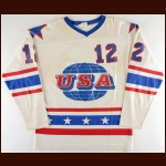 1979 Bobby Crawford Team USA World Junior Championships Game Worn Jersey
