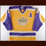 "1986-87 Marcel Dionne Los Angeles Kings Game Worn Jersey – ""20-year Anniversary"""