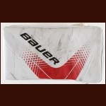 Cam Ward Carolina Hurricanes Red & White Bauer Game Worn Blocker