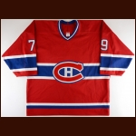 2002-03 Andrei Markov Montreal Canadiens Pre-Season Game Worn Jersey - Photo Match