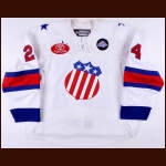 "2010-11 Adam Comrie Rochester Americans Game Worn Jersey – ""75-year AHL Anniversary"""