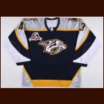 "2002-03 Vitali Yachmenev Nashville Predators Game Worn Jersey – ""Predators 5-year Anniversary"""