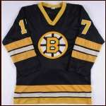 1976-77 Stan Jonathan Boston Bruins Game Worn Jersey - Rookie - Photo Match