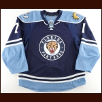 2009-10 Kenndal McArdle Florida Panthers Game Worn Jersey – Alternate – Photo Match – Team Letter