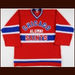 Chris Chelios Chicago Saints Autographed Alumni Jersey – The Chris Chelios Collection – Chris Chelios Letter