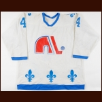 1978-79 Paul Baxter WHA Quebec Nordiques Game Worn Jersey