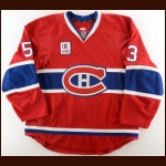 "2012-13 Ryan White Montreal Canadiens Warm Up Jersey – ""Radio-Telethon Children's Foundation"" – Team Letter"
