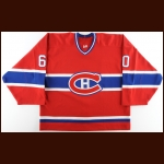 2002-03 Jose Theodore Montreal Canadiens Game Worn Jersey – Team Letter