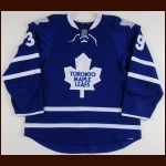 2011-12 Matt Frattin Toronto Maple Leafs Game Worn Jersey – Rookie - Photo Match – Team Letter