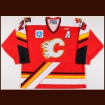 "1997-98 Chris O'Sullivan St. Johns Flames Game Worn Jersey – ""St. John Flames 5-year Anniversary"" – ""PHPA 30-year"""