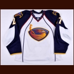 2010-11 Chris Thorburn Atlanta Thrashers Game Worn Jersey - Photo Match – Team Letter