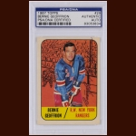 "Bernie ""Boom Boom"" Geoffrion 1967 Topps – New York Rangers – Autographed – Deceased – PSA/DNA"