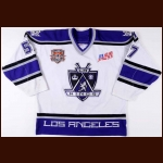 "2000-01 Steve Heinze LA Kings Game Worn Jersey – ""2002 NHL All Star"" – ""AM"" – Team Letter"